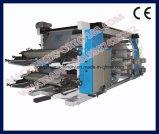 Rollo de papel alimenta la máquina de impresión Flexo