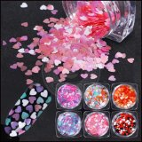 Cor-de-rosa brilhante Arte Unha Reluz Lantejoulas Pó decorações Manicure