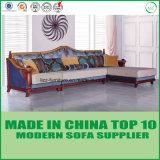 Europäische Art-modernes hölzernes Gewebe-Sofa