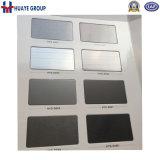 PVD schwarzer TitanEdelstahl-dekoratives Blatt-Platten-Panel
