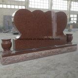 Headstones rossi di scultura di cuore di Doulb del granito di disegno caldo