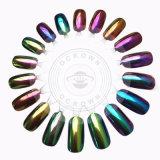 Glitters Shinning do pigmento do cromo da arte do prego do pó do Glitter do Chameleon do prego do espelho