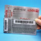 QR cartão VIP/ impressão de código de barras da placa de etiqueta de fidelidade em PVC