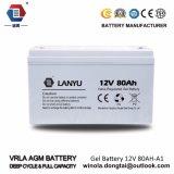 Batteria solare del AGM del sistema 12V80ah di energia solare