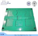 Placa caliente de la quijada de Metso C160 de las ventas para los recambios de la trituradora de quijada