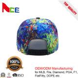 100%のウール材料および平らな縁のタイプは5つのパネルのFlexfitの帽子を結染める