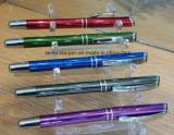Crayon lecteur en aluminium de crayon lecteur ou de rouleau de bille en métal de Retracable ou jeu de crayon lecteur