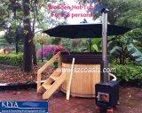 20 ans de constructeur de baquet chaud de baquet chaud en bois extérieur de cèdre rouge