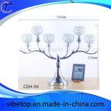 Boda clásica europea y la decoración del hogar Tree-Shaped candelabro de cristal