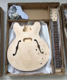 Kit inacabado de la guitarra eléctrica de DIY toda la carrocería sólida del Basswood