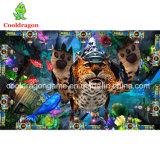 Tramposos de la arcada de la huelga del leopardo del juego del cazador de los pescados de vector de juego de la pesca