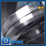 Didtek a feuilleté la vanne papillon à engrenages d'acier inoxydable de joint de disque