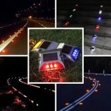 Factory original Two Sides Six LED solarly LED Road Stud simmers Light with Sunlight control
