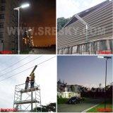 12W 1統合された太陽LED Sreetの軽い価格の製造業のインドの太陽街灯システムすべて