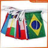 끈 깃발, 화환, 페넌트를 인쇄하는 관례 쌍방