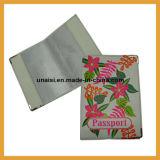 Женщины в провод фиолетового цвета кожи держатель крышки багажника Tag и владелец паспорта,