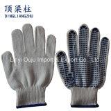 Ce одобрил поставленные точки PVC перчатки хлопка работая для механически работы