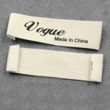 La impresión de etiquetas de tela personalizada etiqueta ropa de etiqueta para las prendas de vestir