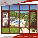 55 series del estilo del marco esmaltado doble de aluminio clásico Windows del perfil