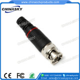 Adattatore del CCTV BNC del maschio della piegatura per Rg59 cavo coassiale (CT5045)