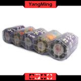 Казино Покер глины чип выделенной прозрачным акриловым скраб микросхемы случае произвольной комбинации (YM-CT12)