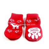 Calcetines rojos del perro, accesorio del animal doméstico de la Navidad