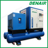 Compressor de ar lubrificado do parafuso de 5.5~37 quilowatts com o secador do receptor de ar, filtro