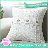 Dekorativer Kissenbezug-weißer kundenspezifischer Baumwollkissen-Deckel-Großverkauf