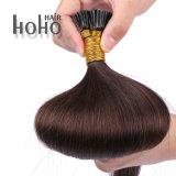 Реми человеческого волоса черный 22-дюймовый кератин я Наконечник удлинителя волос
