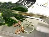 딸기 모양 펀던트 귀걸이 굴렁쇠, 2개의 음색 실제적인 금에 의하여 도금되는 귀걸이