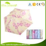 女性のために小型5つのフォールドの傘を広告すること