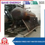 El tubo del agua salva la caldera ardiente de la pelotilla de madera de la energía