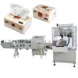 Maquinaria automática de la servilleta de papel tejido facial de la máquina de embalaje