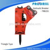 Exkavator zerteilt hydraulischen Unterbrecher-Hammer