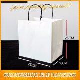 Kundenspezifisches Carment weißes normales Packpapier-Geschenk sackt das Einkaufen ein