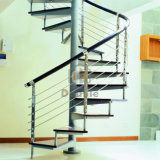 PVC手すりが付いている現代的な炭素鋼の螺旋階段
