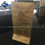 カスタム金プリントZiplocの平底のコーヒーバッグ
