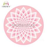 Циновка йоги раздумья ковра розового лотоса лилии круговая круглая