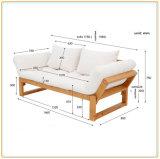 Presidenza di legno del sofà del tessuto di colore arancione per l'hotel