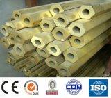 Tubo de cobre amarillo hexagonal de H59 H63 para las piezas de la industria