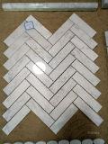 Mattonelle di marmo bianche della parete del mosaico della stanza da bagno/cucina di Bianco Carrara del mosaico di Carrara