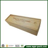 Коробка вина одиночной бутылки деревянная