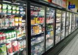 Refrigerador de vidro do indicador da porta do supermercado para bebidas e indicador das bebidas