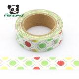 Enmascarado colorido de la cinta de los puntos de polca de la decoración DIY Washi