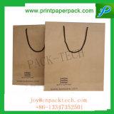 Рециркулируйте мешок Kraft способа Eco содружественной подгонянный несущей бумажный с длинней ручкой