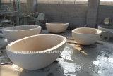 Vasca da bagno di pietra di marmo naturale del granito del basamento/per la mobilia della stanza da bagno