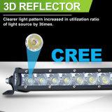 Rangée simple 25pouces LED lumière automobile hors route 4X4 120W barre lumineuse à LED