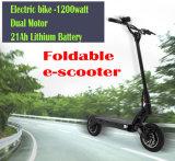 batterie au lithium à grande vitesse de 600W 52V mini pliant le scooter électrique