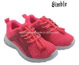 Девочек Fushsia цвет обувь подошва с воздухопроницаемой Flyknit верхний