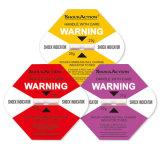 El indicador del impacto de Shockaction previene daño a las mercancías frágiles